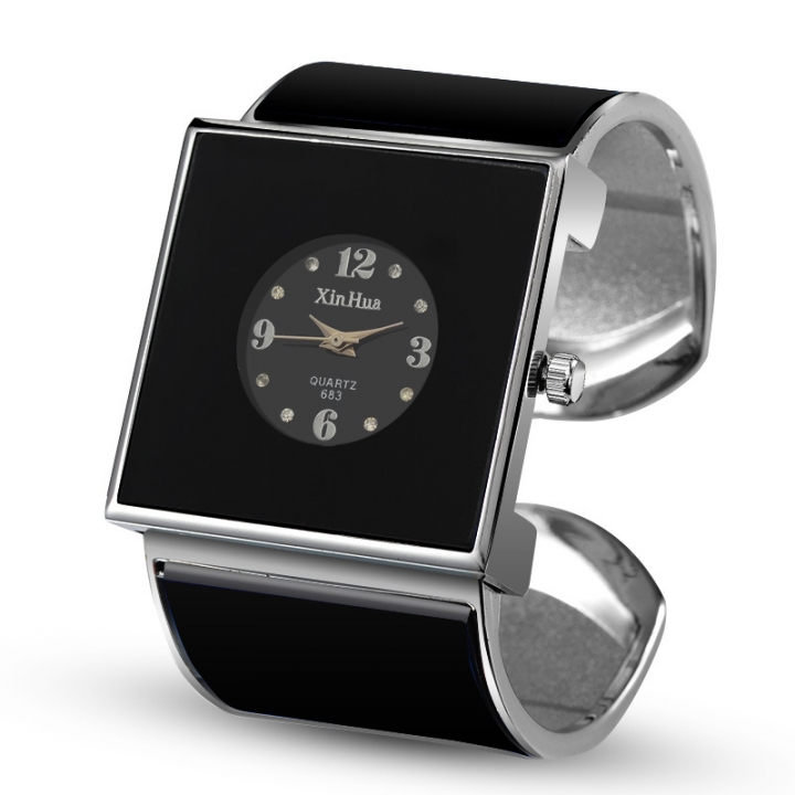Ms Square Watch Fashion Creative Ms Trend Student Watch black