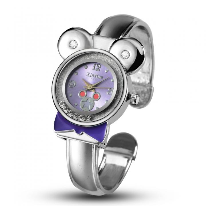 Upscale Ms Bracelet Watch Fashion Mickey Trend Simple Bracelet Watch purple