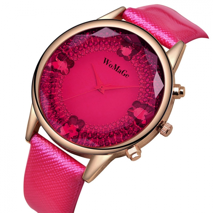 The New Ms Watch Fashion Upscale Business Leisure Simple Belt Watch red