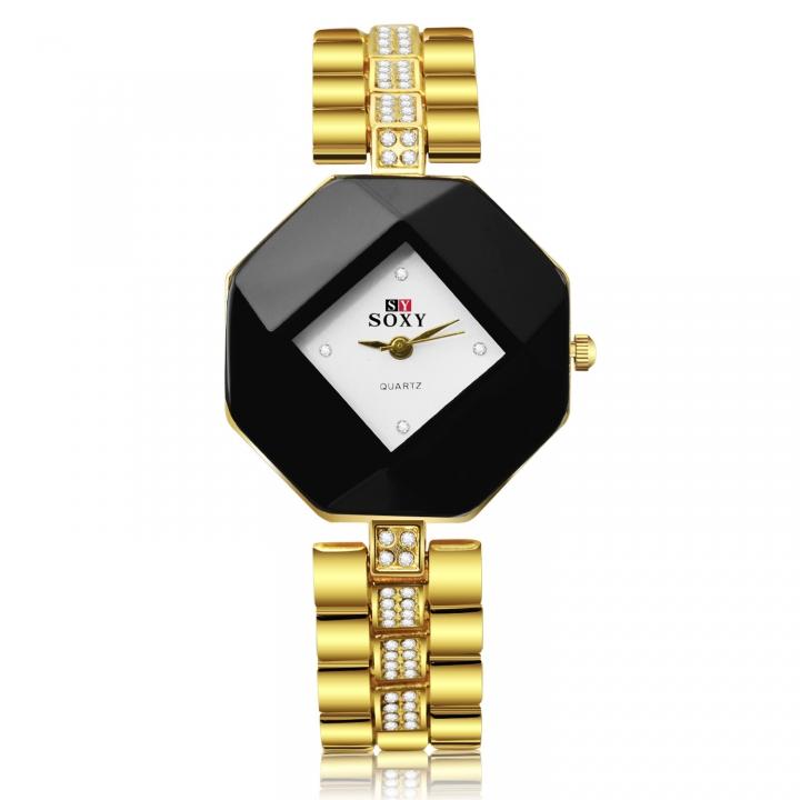 Ms Bracelet Watch student Quartz Upscale Fashion Leisure Watch gold
