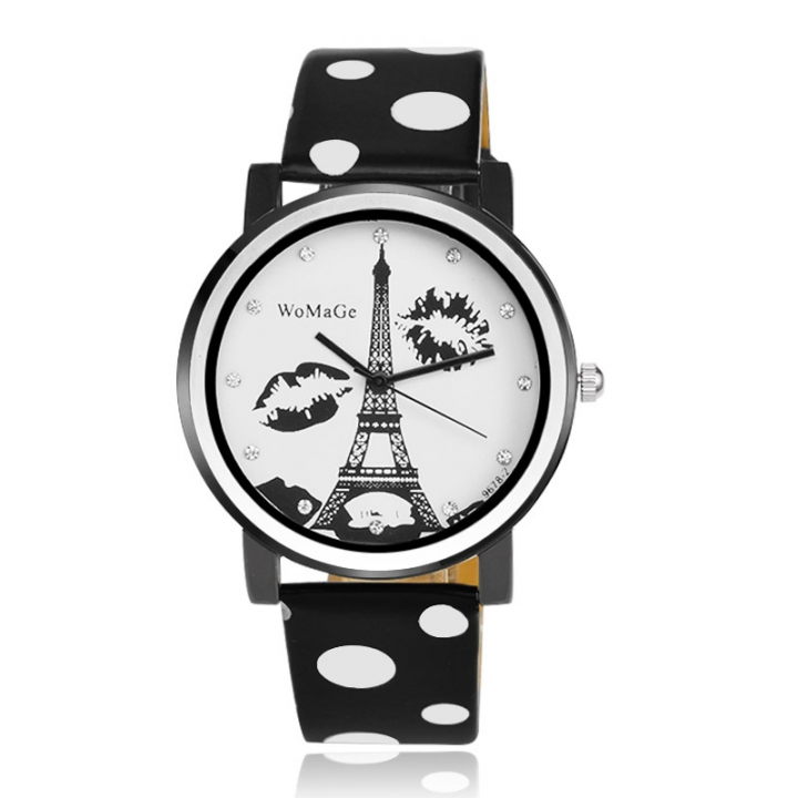 Trend Simple Alfreda Ms Fashion Creative Wild Quartz Watch black