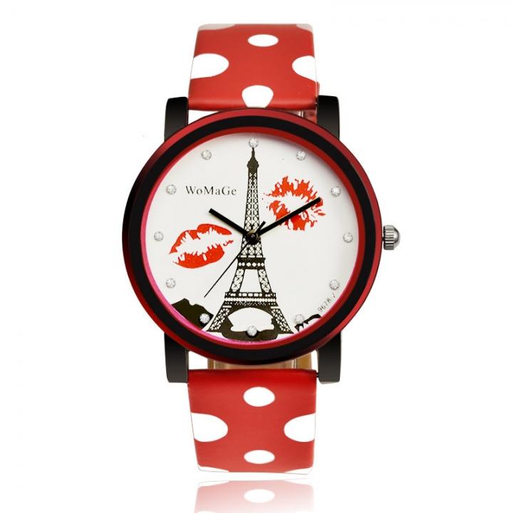 Trend Simple Alfreda Ms Fashion Creative Wild Quartz Watch red