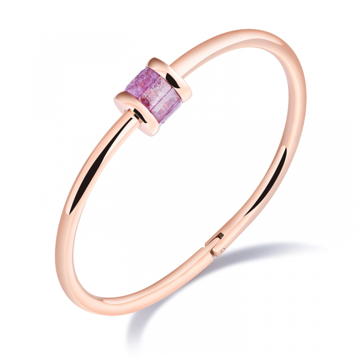 The New Ring Color Diamond Bracelet Titanium Steel Plating Rose gold Buckle Simple Wristband gold purple ms