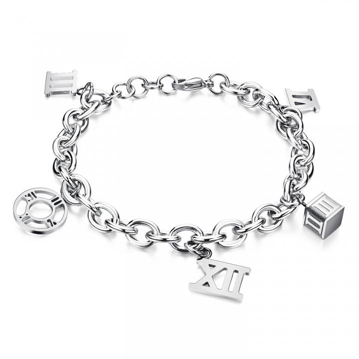 Fashion Plated Rose Gold Ms Tassel Bracelet Titanium Steel Prevent Allergy Bracelet silver ms