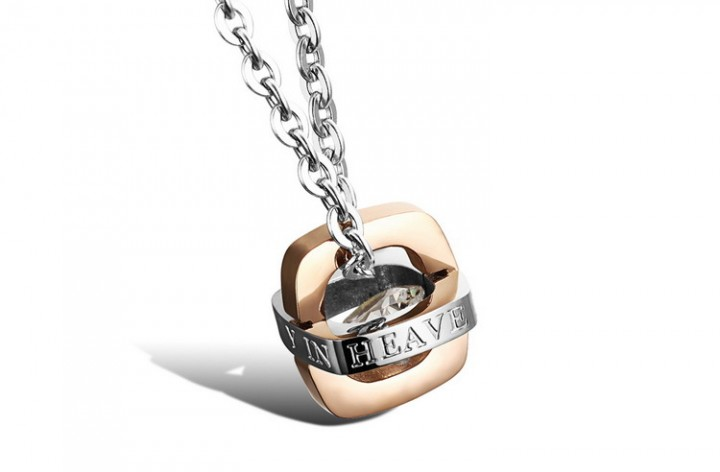 Western Style Fashion Jewelry Pendant Creative Czech Drilling Couple Necklace gold ms one size