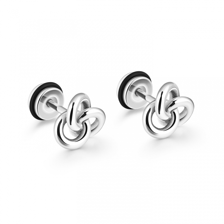 Ms Simple Retro Earring Fashion Titanium Steel Girl Personality Earrings silver one size