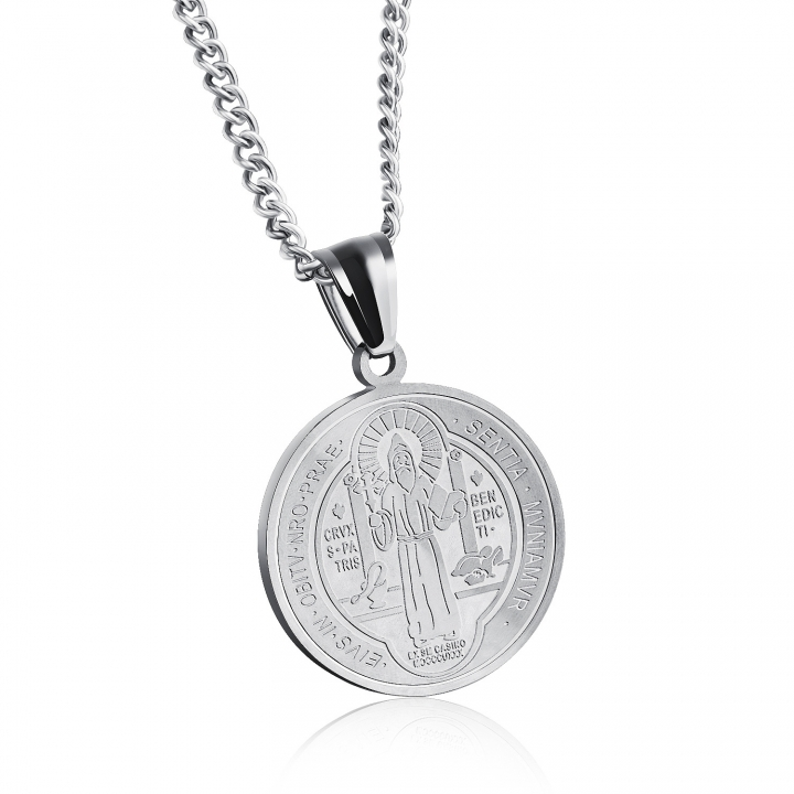 Trend Catholicism Christian Religion Stainless Steel Necklace Fashion Men and Women Jewelry silver one size