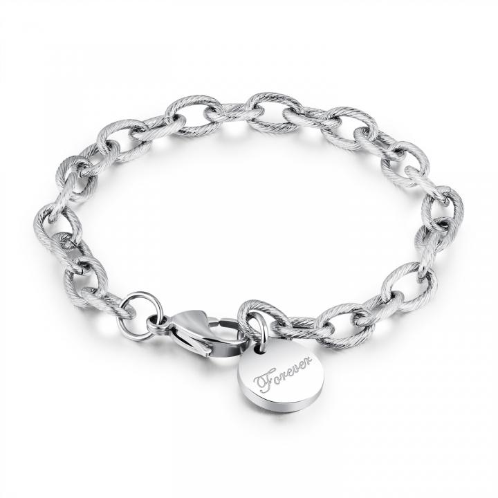 Western Style Fashion LOVE Bracelet Leisure Simple Rose gold Bracelet silver one size