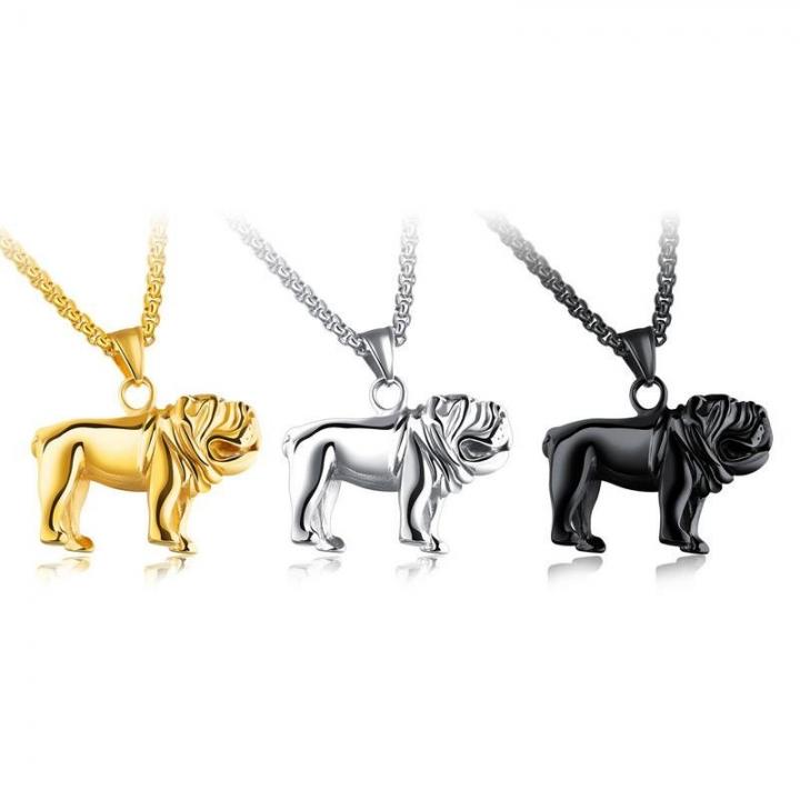 Creative Titanium Steel Haibi Dog Modeling Pendant Men Fashion Leisure Necklace silver one size