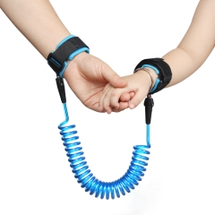 Child Anti-lost Leash Child Anti-lost Rope Baby Anti-lost Wristband Spring Line blue 2m