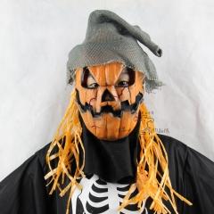 Halloween Upscale Emulsion Pumpkin Scarecrow Terror Ghost Mask Headgear Prom Show Props grimace one size