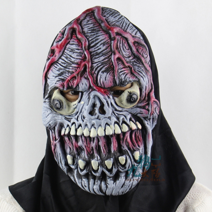 burst Skeleton Fool Halloween prom Party show Props Upscale Soft Horror ghosts mask grimace one size