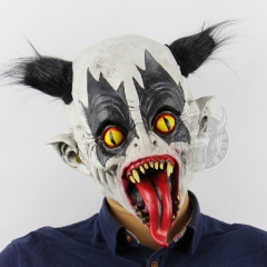 Variation Bat Clown Halloween Terror bar Prom Chamber Of Secrets Escape Props Scary Emulsion Mask grimace one size