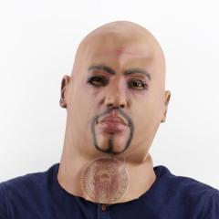 Triad Bald Head Big Brother Character Headgear Halloween Terror Scary Mask grimace one size