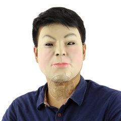 Creative Beauty Handsome Face Funny Mask Performance Funny Halloween Mask grimace one size
