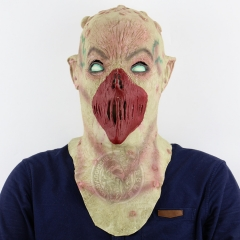 Alien No Mouth Shaped Nausea Terror Halloween Haunted House Chamber of Secrets Escape Scary Mask grimace one size