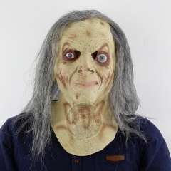 Halloween Terror Witch Headgear Scary Haunted House Whole People Mask grimace one size
