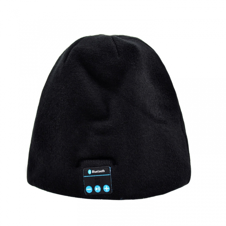 Personality Bluetooth Music Headset Hat Autumn And Winter Bluetooth Knitting Keep Warm Hat black one size