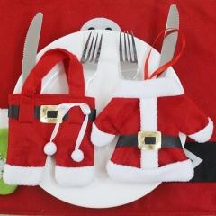 Christmas Supplies Christmas desktop Decoration Tableware sets Christmas Small clothes Set one size