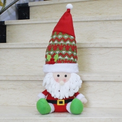 Christmas Sitting Position Decorations Christmas Old man Snowman Doll Deer Christmas gift old man one size