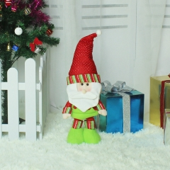 Telescopic rods Standing Christmas Old man Dolls Christmas activity gift Plush toy Decorations old man one size