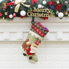 Christmas Socks Gift bag Ornaments Christmas child Gift atmosphere Decorations old man one size