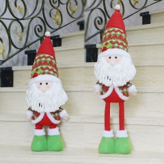 Christmas Decorations Telescopic Old man snowman Dolls Christmas gift Supplies old man one size
