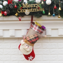 Christmas Sock Gift bag Ornaments gift Christmas Child gift Atmosphere Decorations old man one size