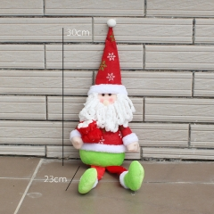Christmas Sitting Position Decorations Christmas Old man Snowman Dolls gift Accessories old man one size