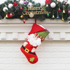 The New Christmas Decorations Festival Supplies Christmas Ggift Candy Socks old man one size