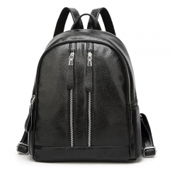 The New Fashion PU Leather Girls Backpack School bag Ms Backpack College Winds Travel bag black one size