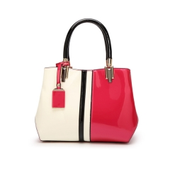 Western Style Fashion Lady Bags Patent Leather Glossy Handbag Shoulder Messenger Lady Bags red one size