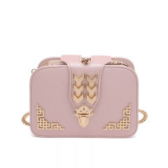 Lady bags The New Clip Pack Temperament Messenger Holding Hands Shoulder Chain Packet pink one size