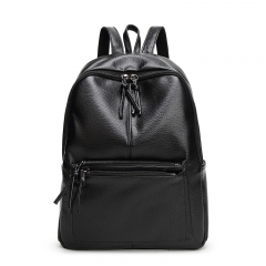 The New Backpack Ms High Capacity Travel Backpack College Winds Trend School bag black one size