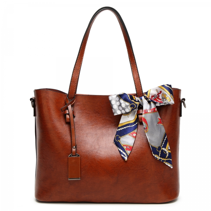 The New Lady Bags Simple Tote Western Style Fashion Shoulder Portable Trend Ladies bag brown one size
