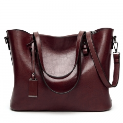 The New Lady Bags Simple Tote Western Style Fashion Shoulder Portable Trend Ladies bag coffee one size