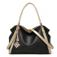The New Soft Skin Lady Bags Handbag Fashion Ms Bag Mom Shoulders Messenger bag Big bag black one size
