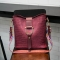 The New Mother Package Bucket Wild Messenger Bag Shoulder Lady bags Crocodile Pattern Ladies bag red wine one size