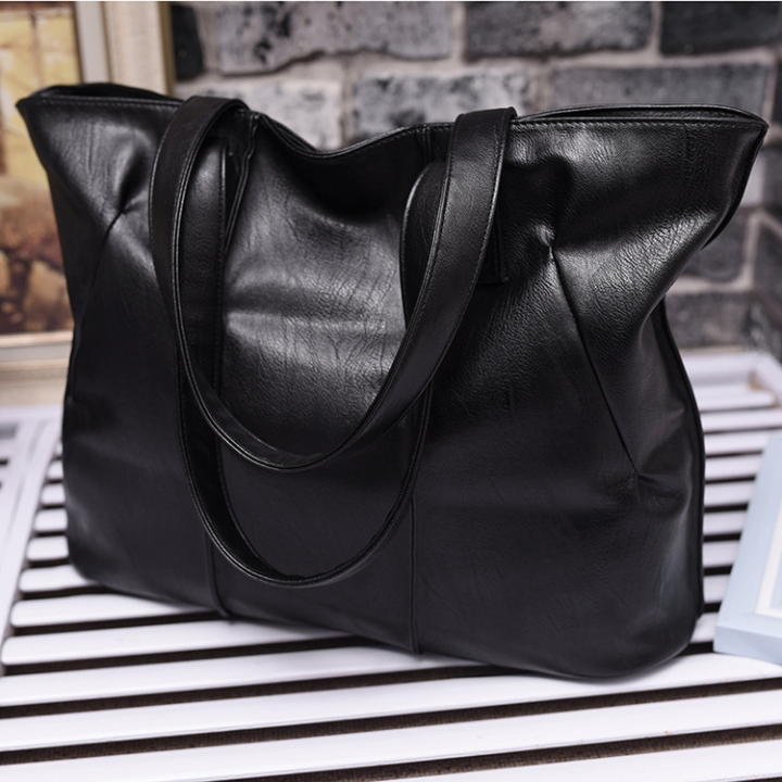 Western Style Simple Tote The New Ms Shoulder Bags Wild Trend Handbag black one size