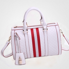 Western Style Handbag Ms Fashion Big bag Shoulder Bags Diagonal Package white one size