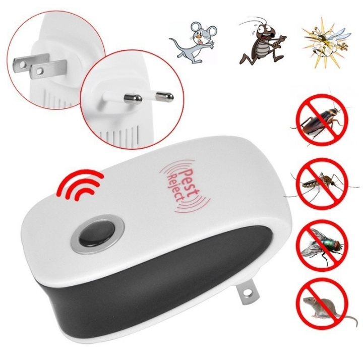 Household Electronic Ultrasound Pest Control Device High Power Catching Mice Artifact white one size