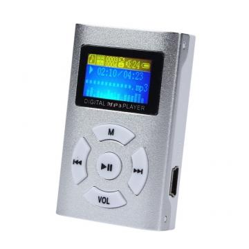USB MP3 Player Mini LCD Screen listen to music silver