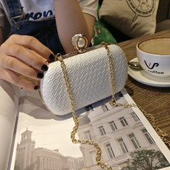 Wild Lady Bags Trend Evening Package Fashion Clutch Shoulder Diagonal Package Chain bag pink one size