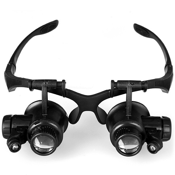 9892GJ Glasses Type Eyes With LED Lights Jewelry Magnifier Wear Portable Multifunction Magnifier black one size
