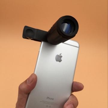 JINJULI 8X18 Portable Mini HD Fashion Glimmer Night Vision Phone Lens  With Clip black one size