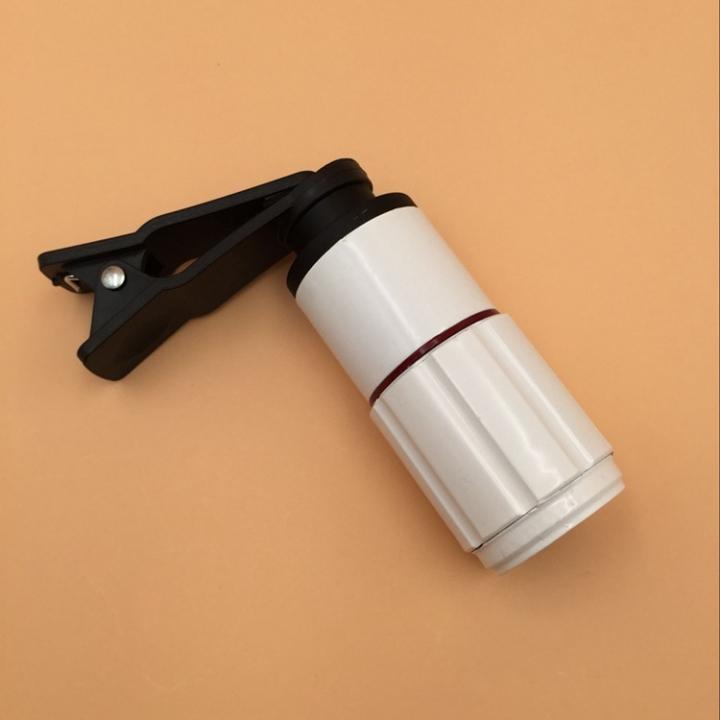 JINJULI 8X18 Portable Mini HD Fashion Glimmer Night Vision Phone Lens  With Clip white one size