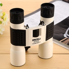 JINJULI30X40 High Times HD Glimmer Night Vision Telescope Portable Binocular Telescope white one size