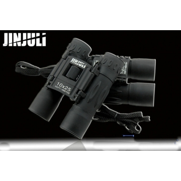 Outdoor JINJULI Close Range 10X25 HD Binocular Telescope Glimmer Night Vision High Times Telescope black