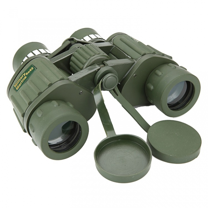 Outdoor Telescope  8x42 Stripes Binocular Telescope Green Film Glimmer Night Vision Eyepiece green