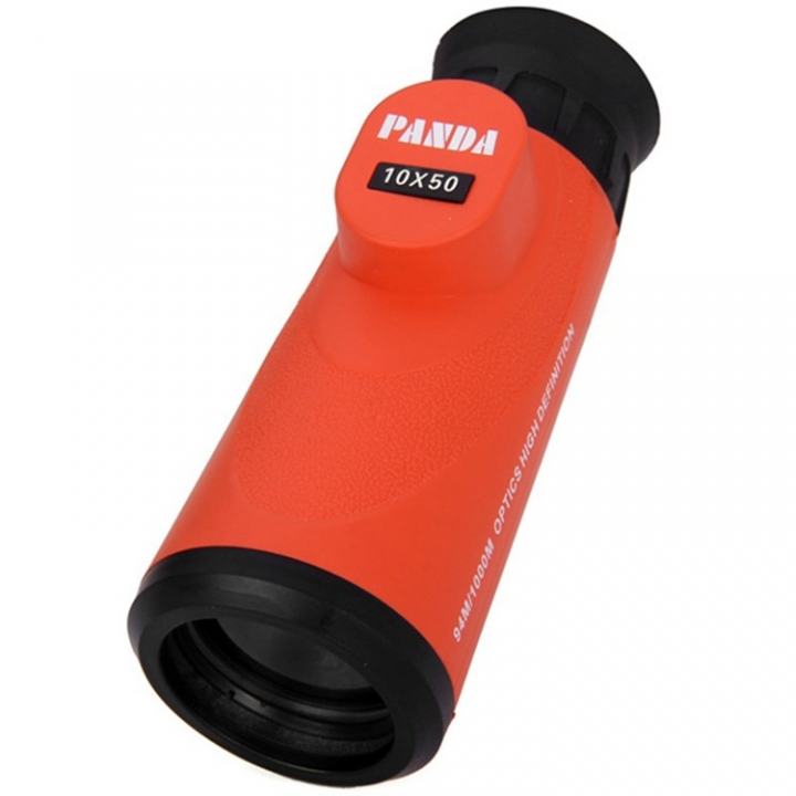 Outdoor Panda 10x50 Waterproof Single Cylinder Telescope Eyepiece High Definition Telescope orange